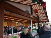 Süßgkeiten Stand auf dem Weihnachtsmarkt in London