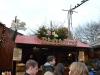 Deutsche Bratwurst auf dem Weihnachtsmarkt in London