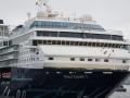 Bug der Mein Schiff 1 im Hamburger Hafen