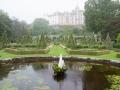 Garten mit Springbrunnen in Dunrobin Castle