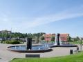 Springbrunnen im Hafen Kristiansands