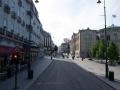 Leere Fußgängerzone Oslos