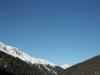 Strahlender Sonnenschein in den Bergen