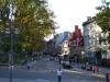 Nette schmale Straße in Quebecs