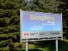 Schild zum Biosphere Musee