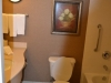 Badezimmer im Hilton Garden Inn Cleveland