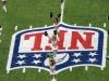 Cheerlader vor dem Spiel der Jets - Nahaufnahme