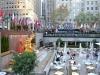 Hier ist sonst die Schlittschuhbahn vor dem Rockefeller Center
