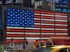 Leuchtende USA Flagge am Time Square