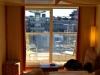 AIDAbella Balkonkabine Blick aus dem Fenster