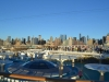 Skyline von New York und Sonnendeck der AIDAbella