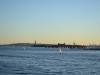 Blick über den Hudson River auf New York