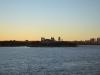 Ellis Island im Sonnenuntergang