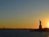 Sonnenuntergang neben der Freilichtstatue