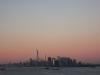 Die Sonne ist bald über Manhattan untergangen