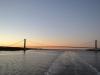 Ein Blick auf zurück auf die Verrazano-Narrows Bridge
