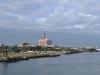 Ein Blick über den Hafen auf Boston