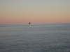 Kreuzfahrtschiff am Horizont
