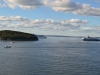 Zwei Kreuzfahrtschiffe vor Bar Harbor