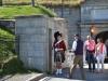 Nicht grinsende Wache vor der Blick von der Citadelle in Halifax
