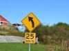 Kurve für 25 km/h geeignet Schild