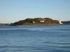 Insel in der Fahrspur des Hafen Halifax