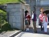 Grinsende Wache vor der Blick von der Citadelle in Halifax