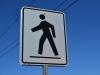Achtung Fußgänge Schild
