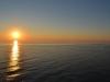 Sonnenuntergang auf dem Sankt Lorenz Strom von der AIDAbella aus 2