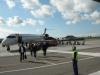 Das SAS Flugzeug von Hannover nach Copenhagen
