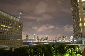 Aussicht von der Roof Top Bar im Conrad New York
