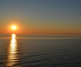 Sonnenuntergang auf dem Sankt Lorenz Strom