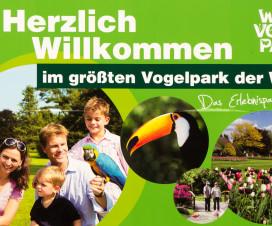 Begrüßungsschild Weltvogelpark