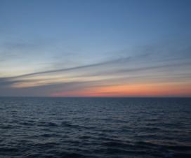 Der Himmel um kurz vor 0 Uhr