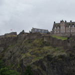 Edinburgh Castle mit Union Jack