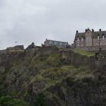 Edinburgh Castle mit Union Jack