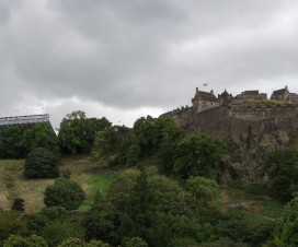 Tattoo Arena und Edinburgh Castle