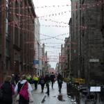 Fahnen Straße in Edinburgh