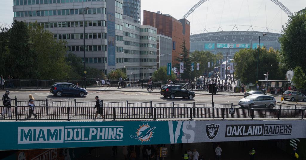 Begrüßung Wembley Park: Miama Dolphings vs. Oakland Raiders