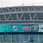 Spielankündigung der NFL am Wembley Stadion