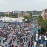 Die Massen strömen zum American Football nach London ins Wembley Stadion