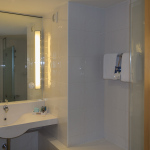 Badezimmer im Novotel Barcelona City