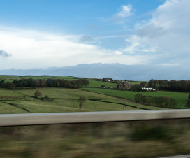 Landschaft auf dem Roadtrip in mitten Englands