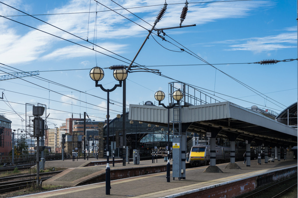 Bahnhof Newcastles bei Tag