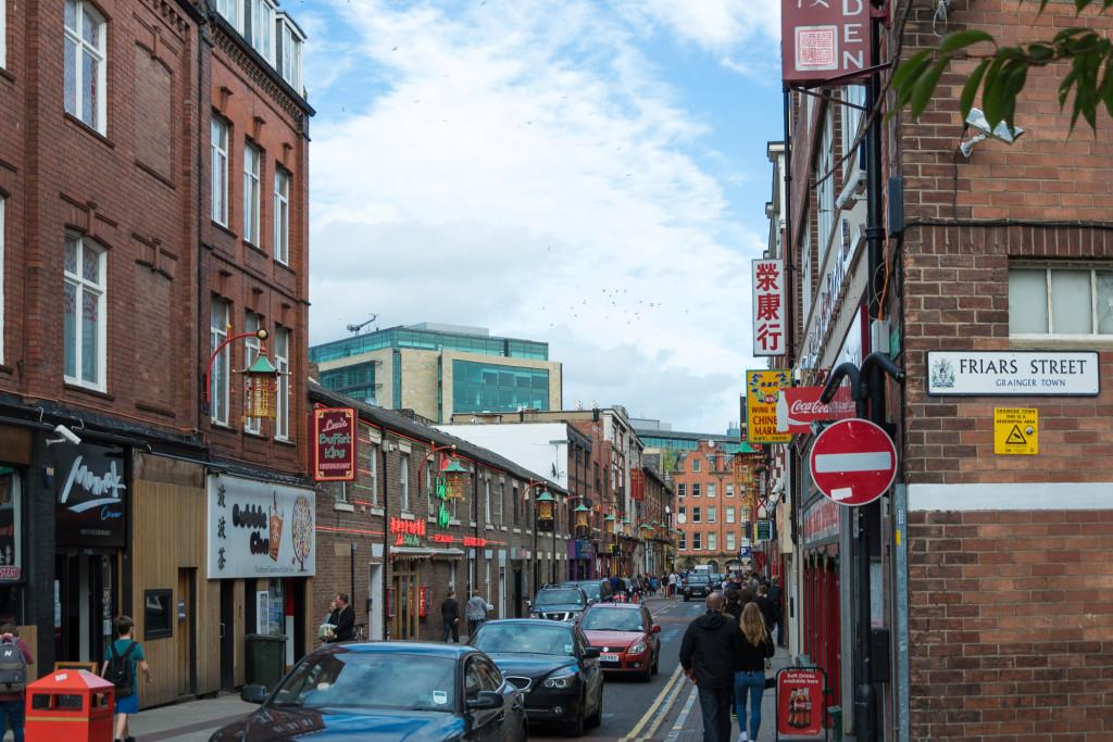 Sich in die chinesiche Straße Newcastles