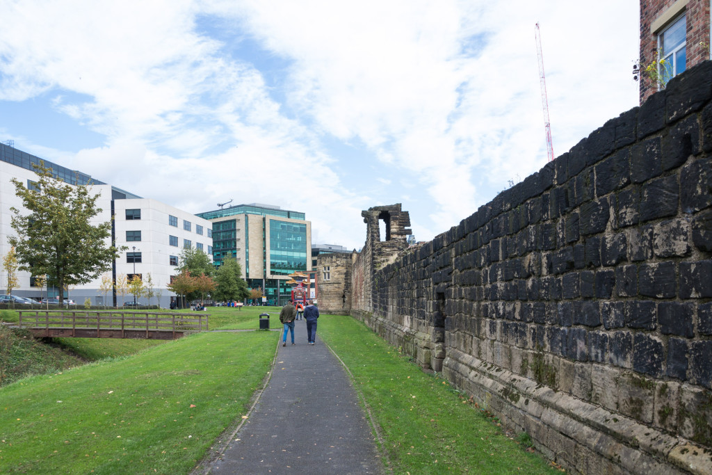 Newcastle: Entlang der Stadtmauer