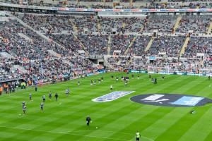 Fußballspiel Newcastel United FC - Leicester City FC