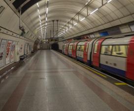 Typisch für London: die U-Bahn