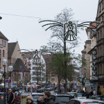 Adventsgeschmückte Einkaufstraße in Nürnberg