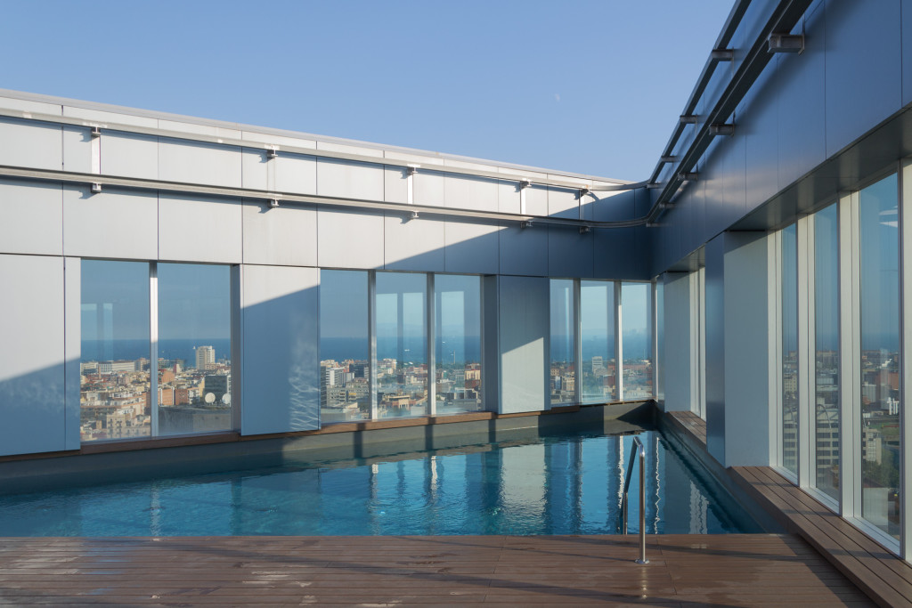 Dachterrasse auf dem Novotel Barcelona City